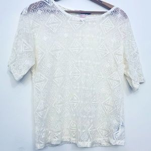 Cream/White Forever 21 Knit Top